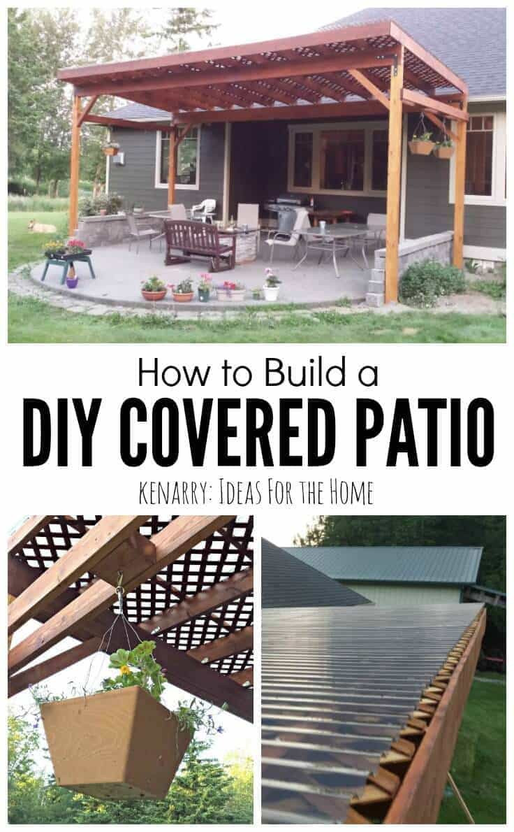 Best ideas about Diy Backyard Patio . Save or Pin How to Build a DIY Covered Patio Now.