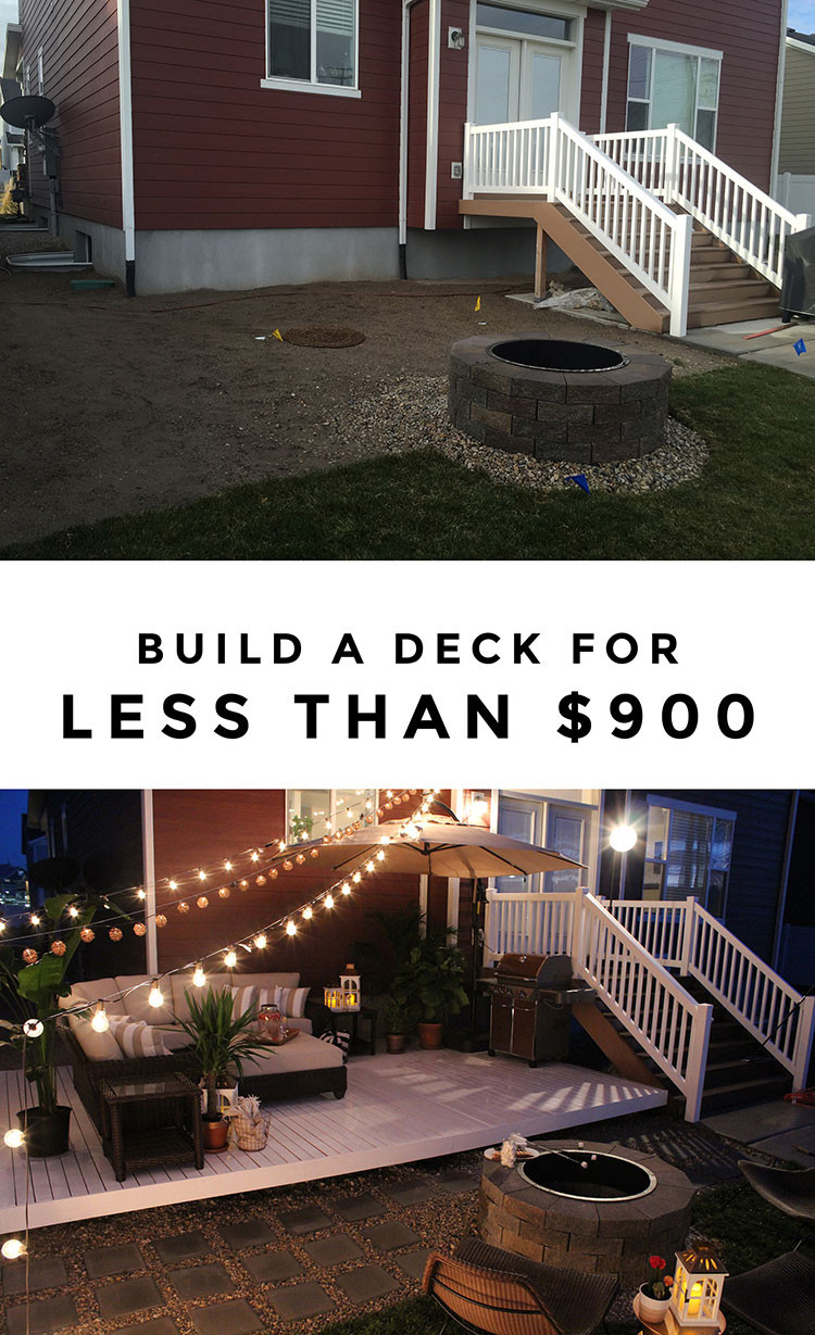 Best ideas about Diy Backyard Patio . Save or Pin How to Build a Simple DIY Deck on a Bud Now.