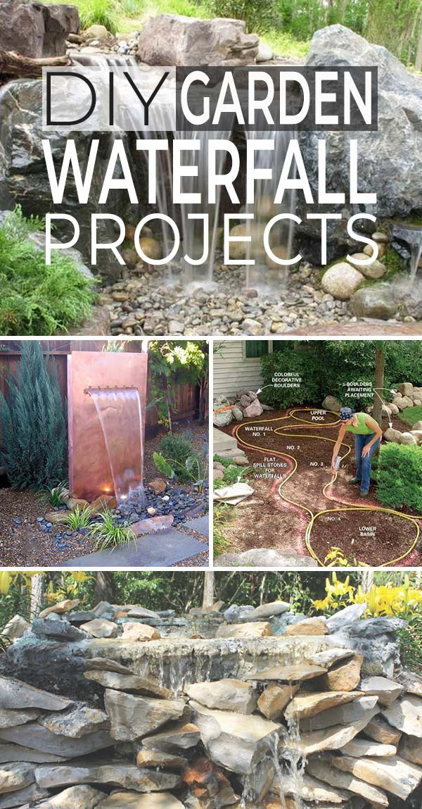 Best ideas about Diy Backyard Waterfall . Save or Pin DIY Garden Waterfall Projects Now.