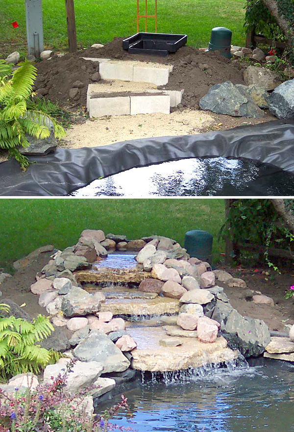 Best ideas about Diy Backyard Waterfall . Save or Pin DIY Garden Waterfalls Now.