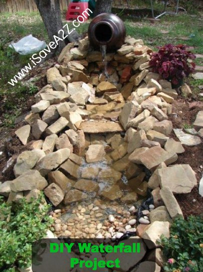 Best ideas about Diy Backyard Waterfall . Save or Pin DIY Easy Backyard Pond Design Idea iSaveA2Z Now.