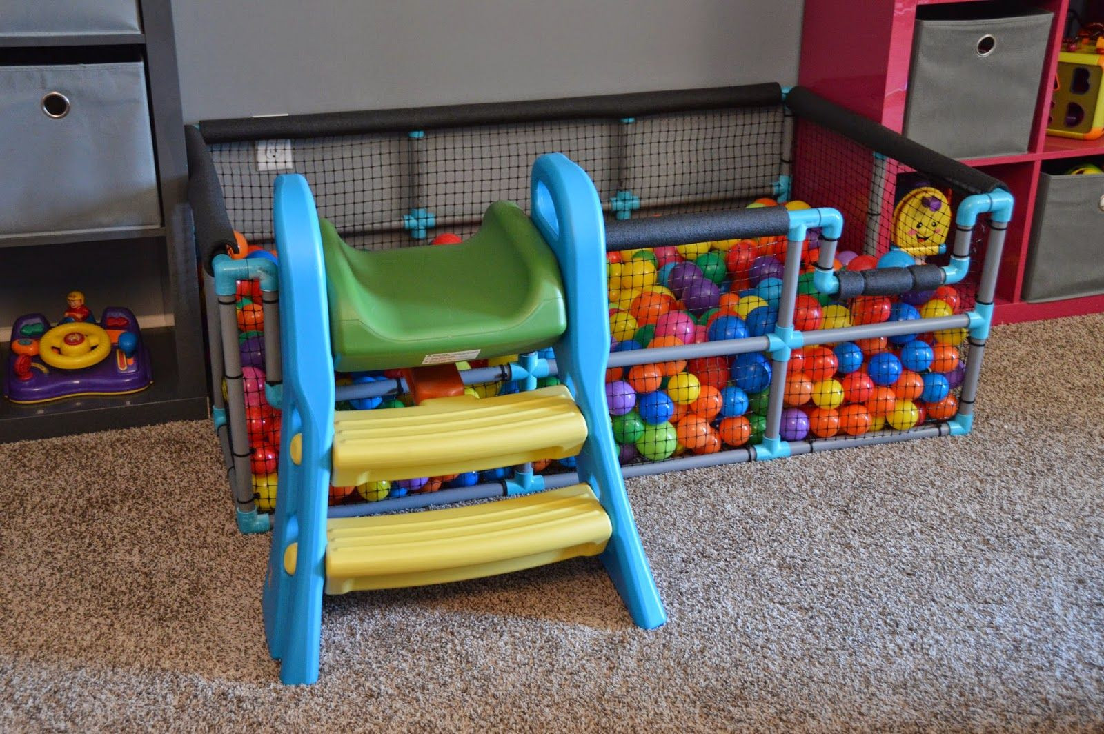 Best ideas about DIY Ball Pit For Toddlers . Save or Pin Tour of our Home Playroom Now.
