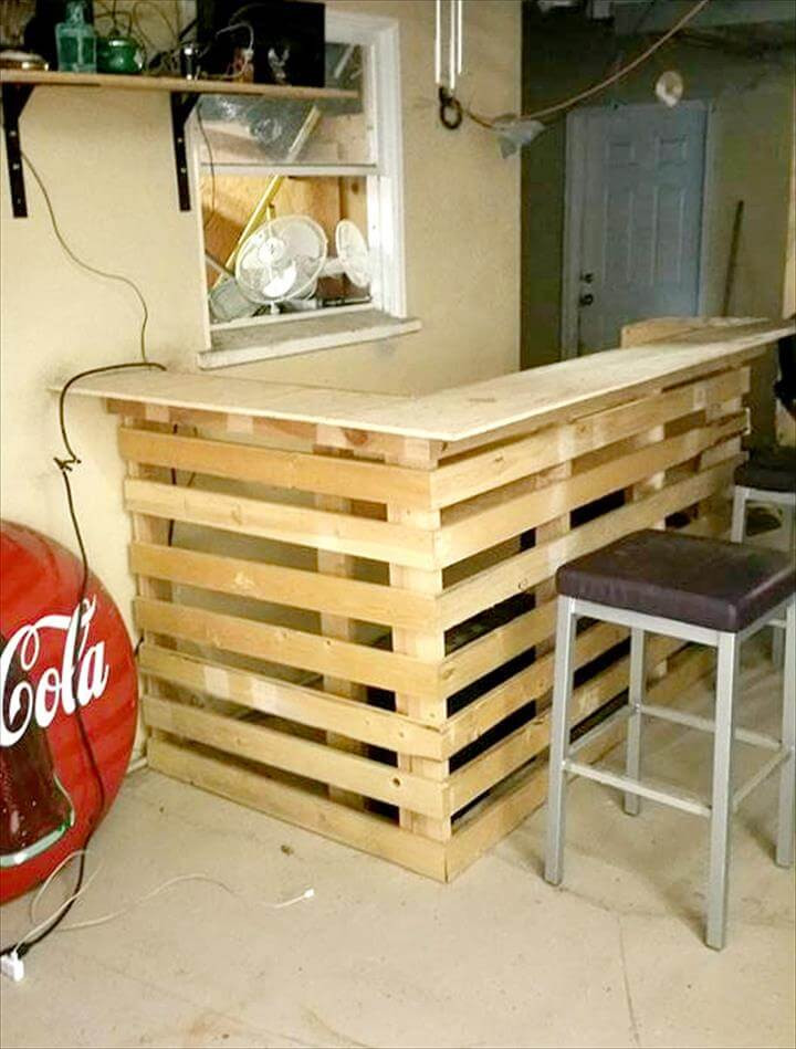 Best ideas about DIY Bar Plans . Save or Pin DIY Pallet Bar Now.
