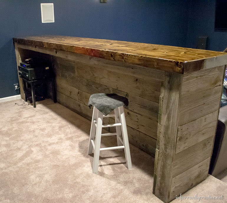 Best ideas about DIY Bar Plans . Save or Pin Man Cave Wood Pallet Bar Free DIY Plans Now.