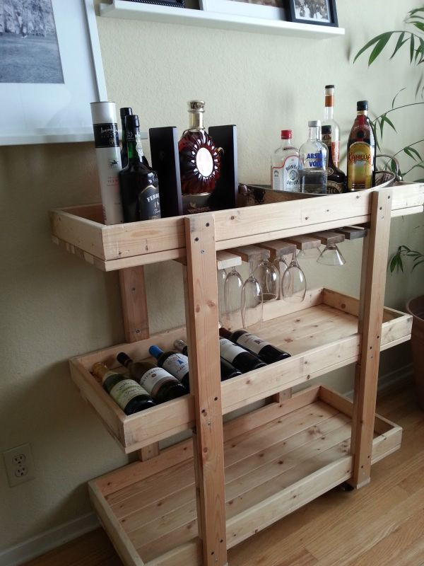 Best ideas about DIY Bar Plans . Save or Pin 14 Inspiring DIY Bar Cart Designs And Makeovers Now.
