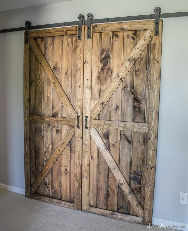 Best ideas about DIY Barn Door Tracks . Save or Pin DIY Double Barn Door Plans Now.