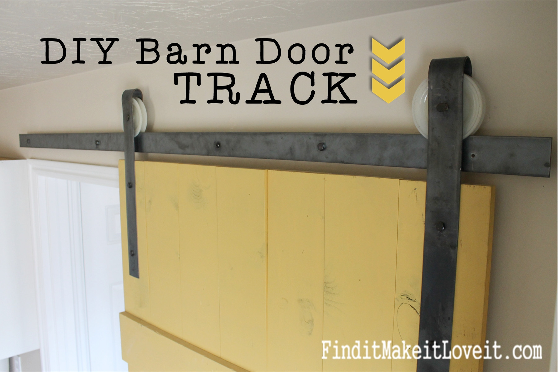 Best ideas about DIY Barn Door Tracks . Save or Pin DIY Barn Door Track Find it Make it Love it Now.