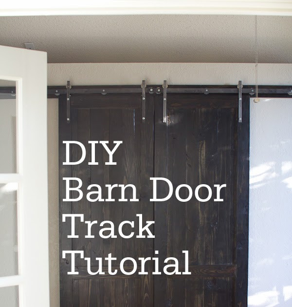 Best ideas about DIY Barn Door Tracks . Save or Pin carline corduroys DIY Barn Door Track Tutorail Now.