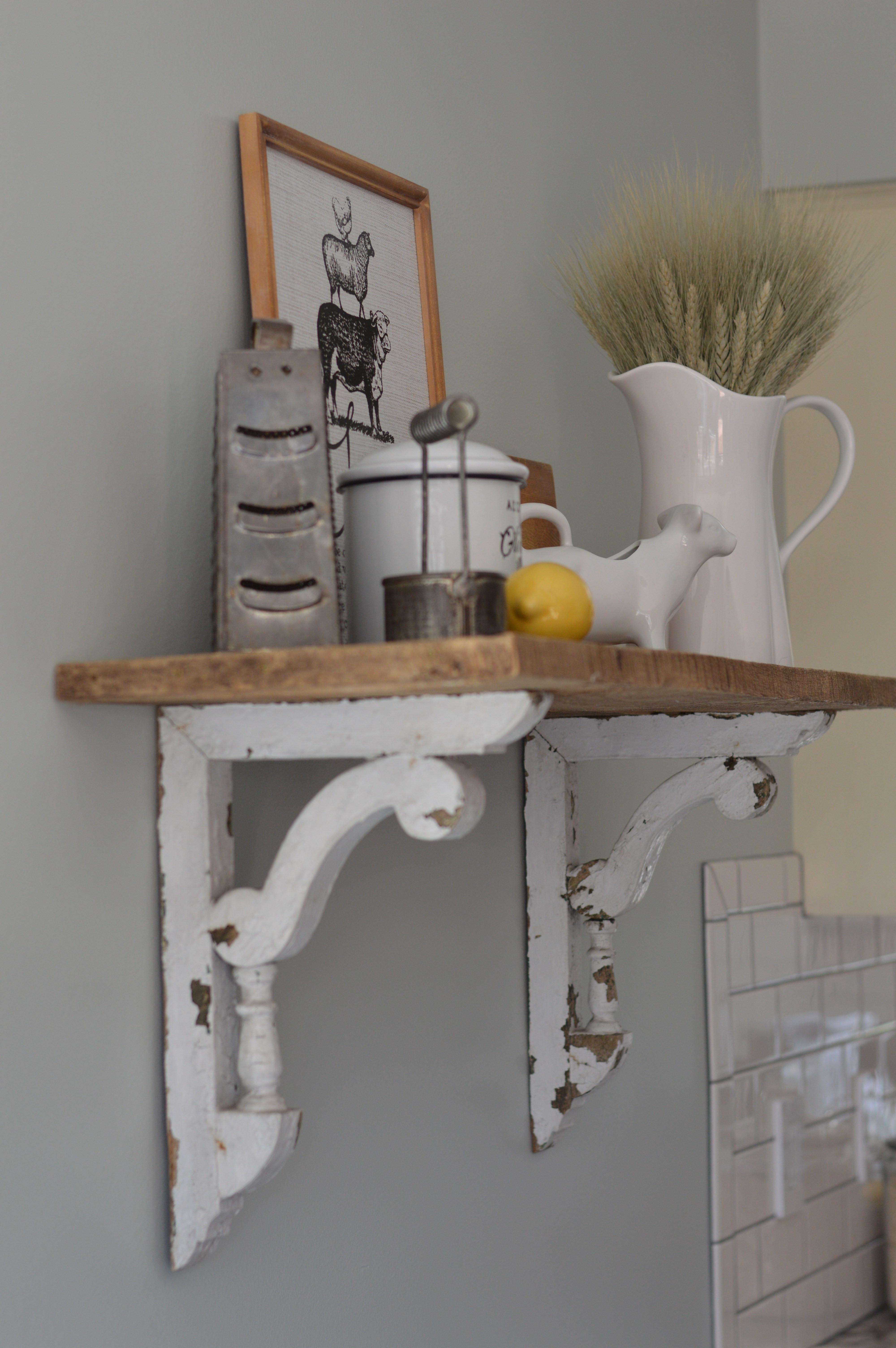 Best ideas about DIY Barn Wood Shelves . Save or Pin DIY Barn Wood Shelf Shabby Grace Now.