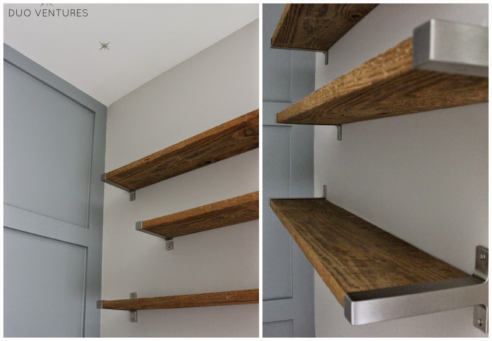 Best ideas about DIY Barn Wood Shelves . Save or Pin Duo Ventures The Nursery DIY Reclaimed Barnwood Shelves Now.