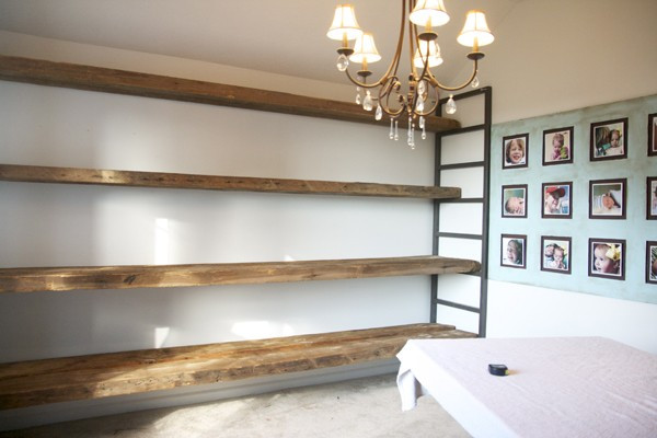 Best ideas about DIY Barn Wood Shelves . Save or Pin how to build shelving from reclaimed wood Now.