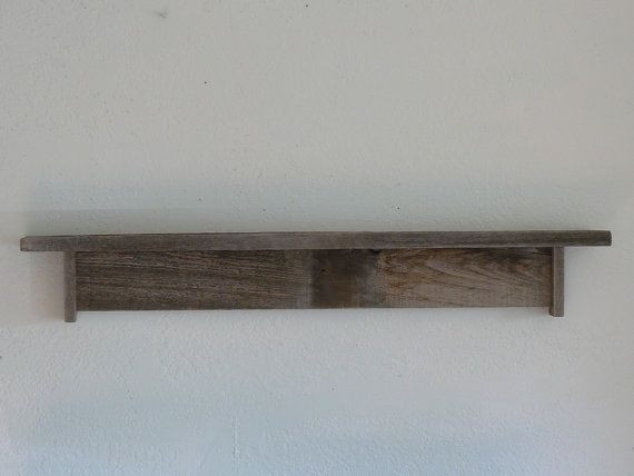 Best ideas about DIY Barn Wood Shelves . Save or Pin Wall shelf 36 inch wide rustic reclaimed barn wood Now.