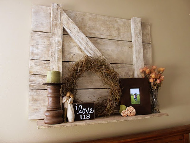 Best ideas about DIY Barn Wood Shelves . Save or Pin Lovely Little Snippets Barn Door Shelf DIY Now.