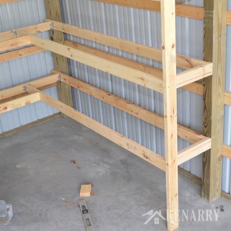 Best ideas about DIY Barn Wood Shelves . Save or Pin DIY Corner Shelves for Garage or Pole Barn Storage Now.