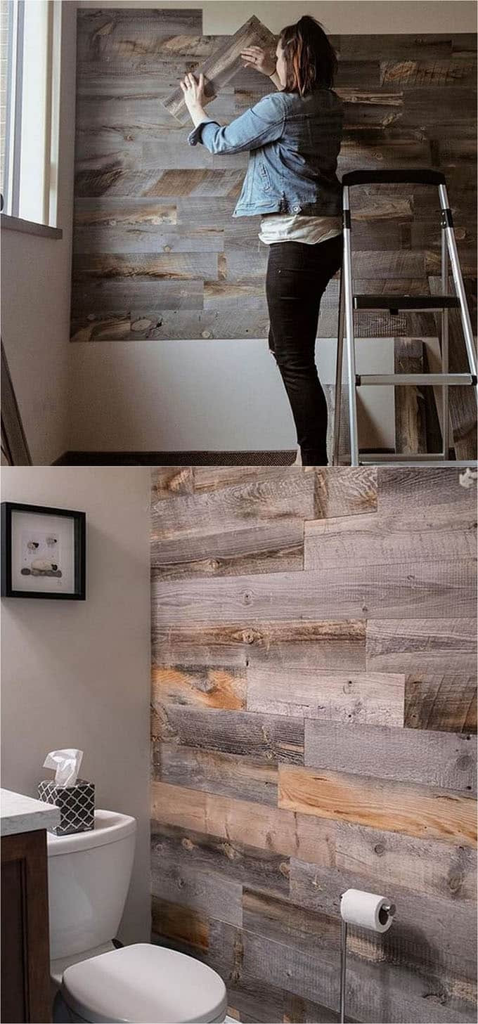 Best ideas about DIY Barnwood Wall . Save or Pin Shiplap Wall and Pallet Wall 30 Beautiful DIY Wood Wall Now.