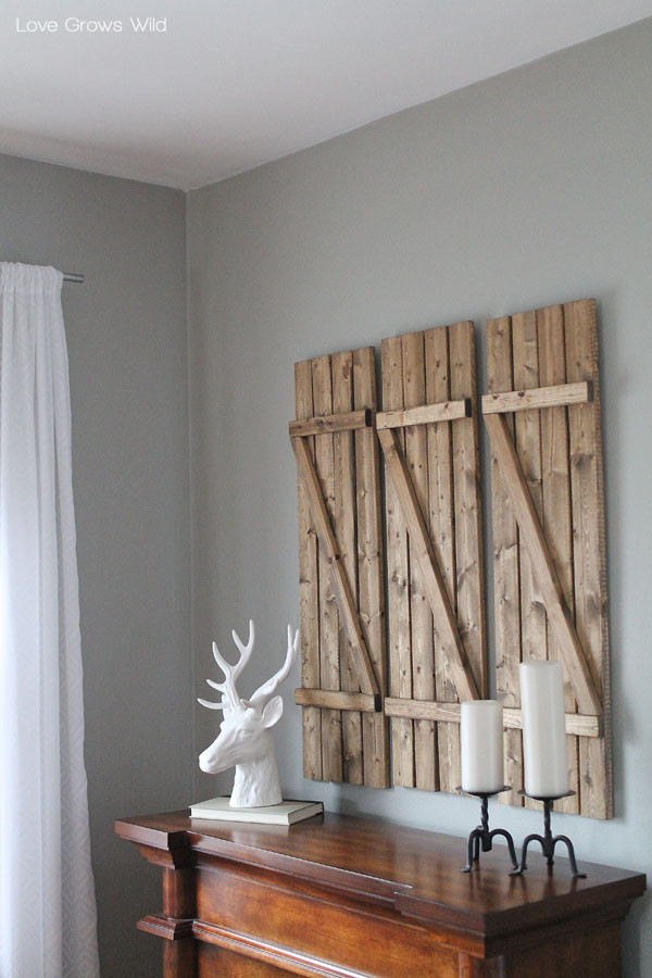 Best ideas about DIY Barnwood Wall . Save or Pin DIY Barn Wood Shutters Love Grows Wild Now.