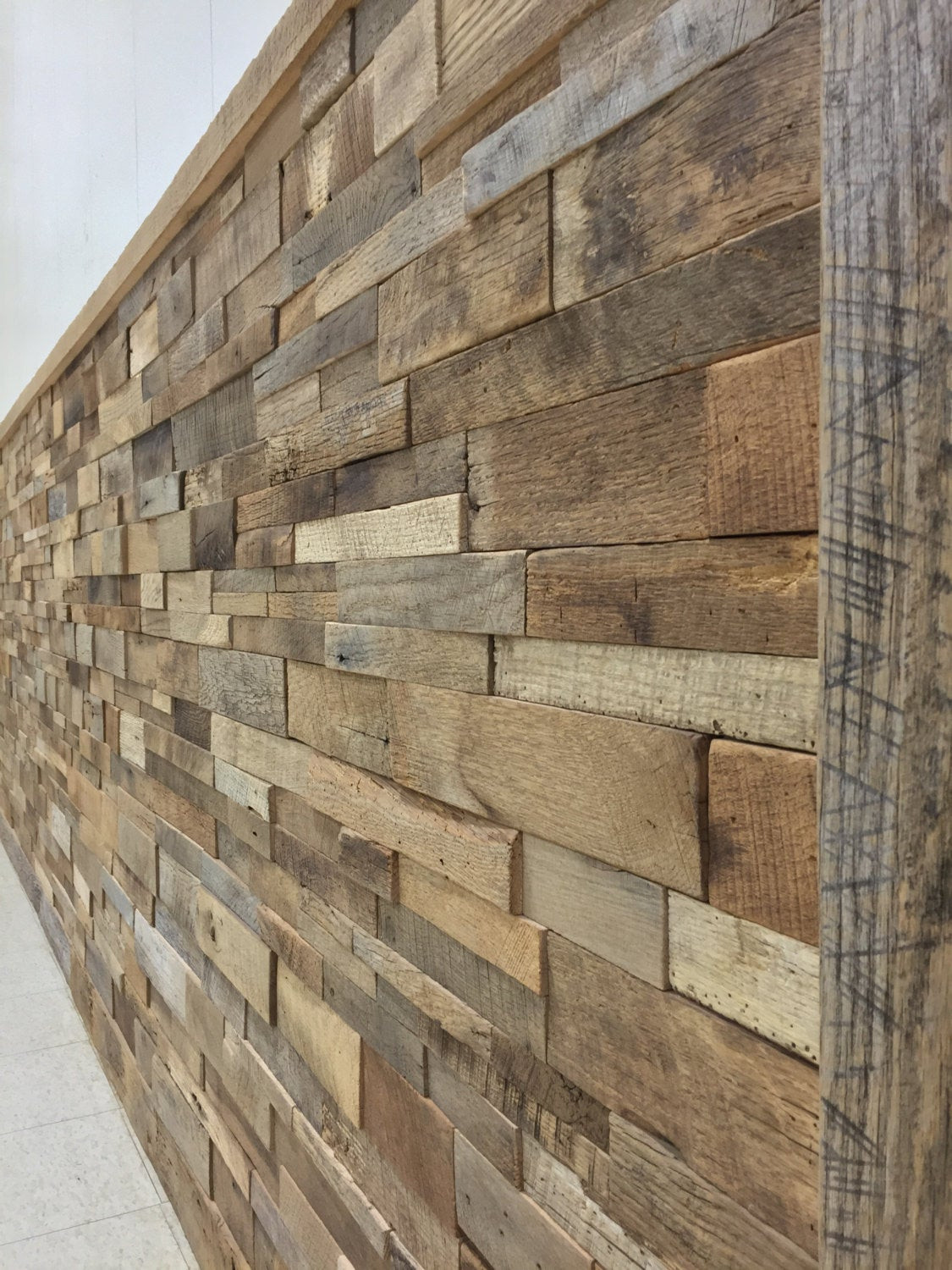 Best ideas about DIY Barnwood Wall . Save or Pin Reclaimed Barn Wood Stacked Wall Panels DIY by Now.