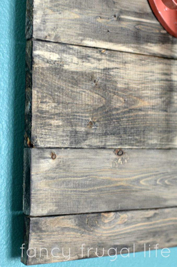 """Best ideas about DIY Barnwood Wall . Save or Pin DIY Faux """"Barn Wood"""" Wall Art Now."""