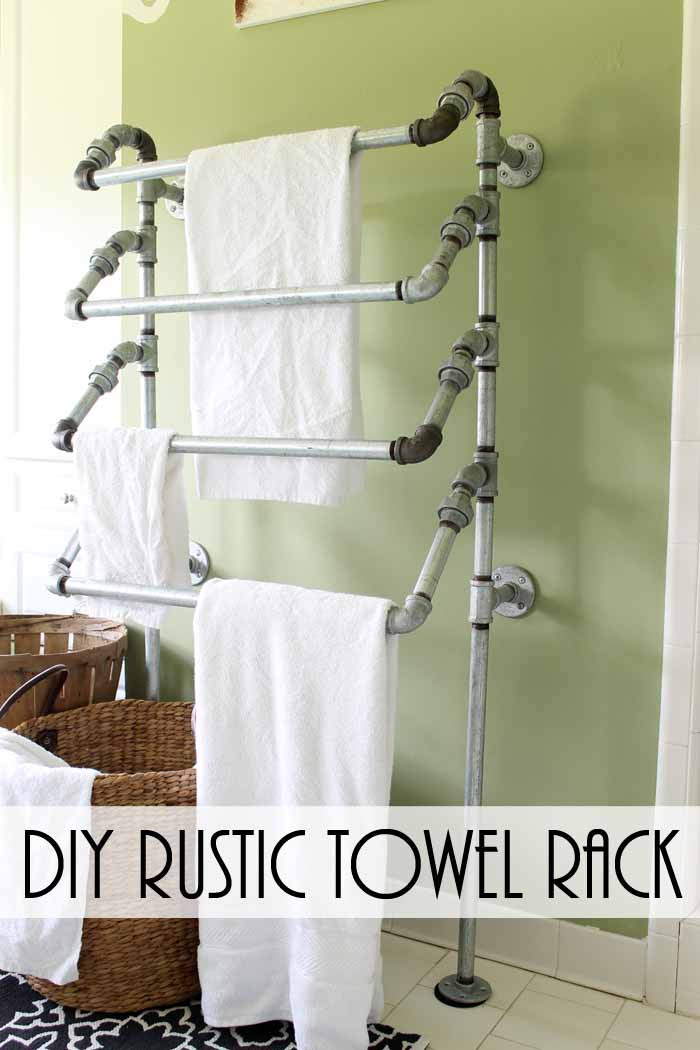 Best ideas about DIY Bathroom Towel Rack . Save or Pin DIY Rustic Towel Rack from Pipes The Country Chic Cottage Now.