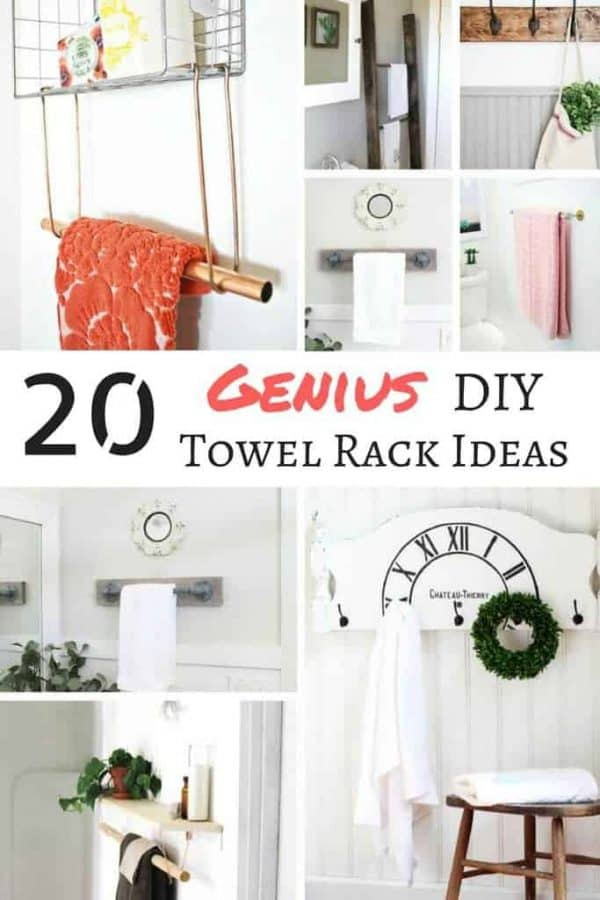 Best ideas about DIY Bathroom Towel Rack . Save or Pin 20 Genius DIY Towel Rack Ideas The Handyman s Daughter Now.
