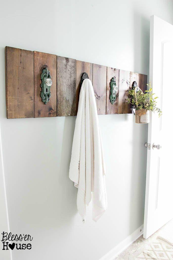 Best ideas about DIY Bathroom Towel Rack . Save or Pin DIY Antique Door Knob Towel Rack Now.