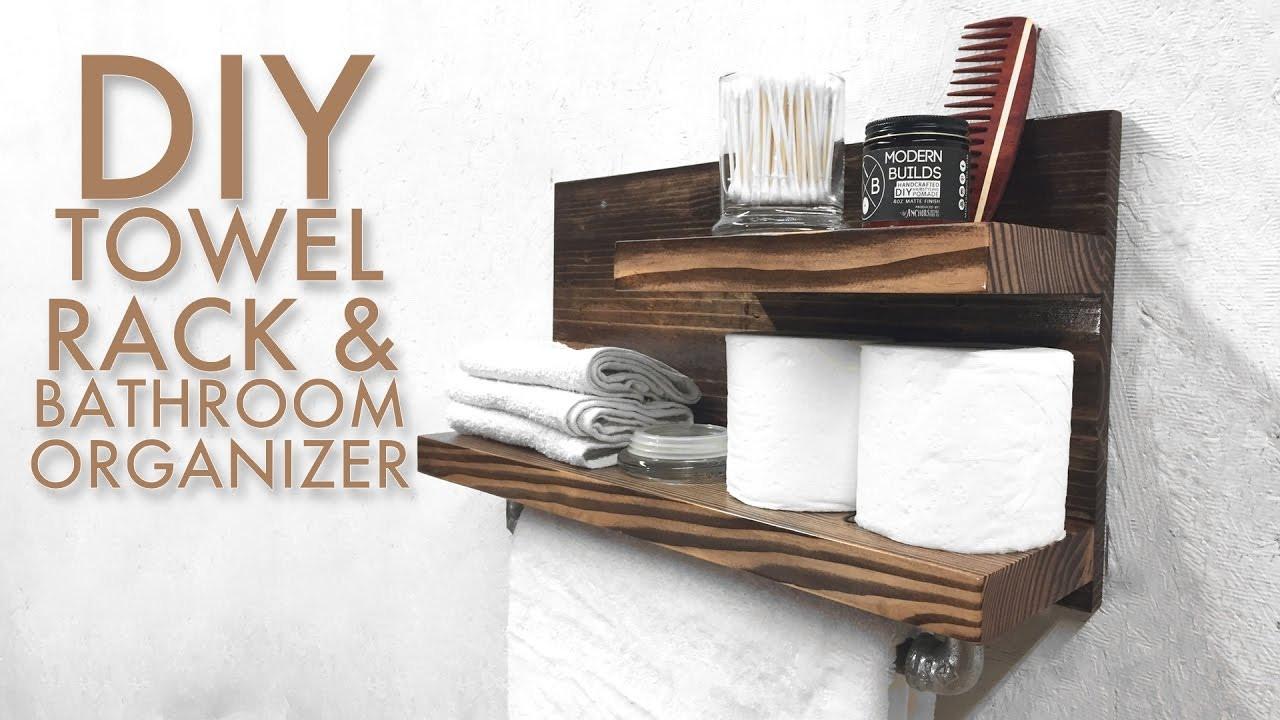 Best ideas about DIY Bathroom Towel Rack . Save or Pin DIY Towel Rack & Bathroom Organizer Modern Builds Now.