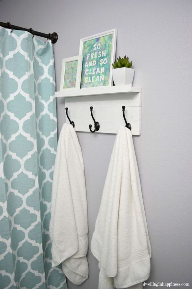 Best ideas about DIY Bathroom Towel Rack . Save or Pin 10 Clever DIY Towel Racks • The Bud Decorator Now.