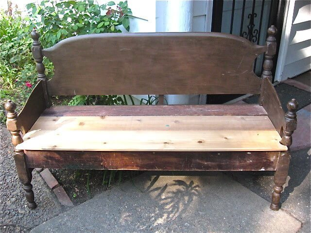 Best ideas about DIY Bed Bench . Save or Pin Build a Garden Bench from a Bed Now.