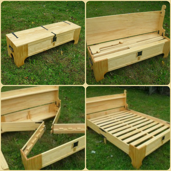 Best ideas about DIY Bed Bench . Save or Pin How To Make a DIY Bench That Folds Into A Bed Perfect Now.
