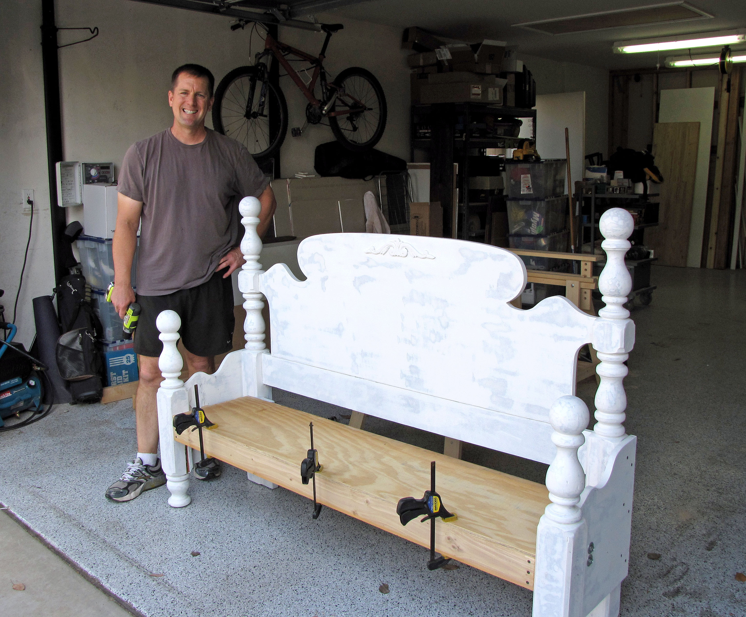 Best ideas about DIY Bed Bench . Save or Pin headboard makeover Now.