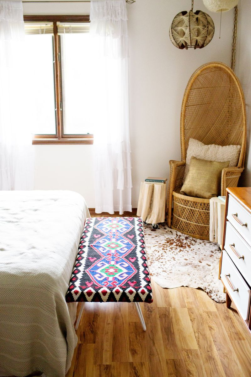 Best ideas about DIY Bed Bench . Save or Pin DIY Bedside Bench – A Beautiful Mess Now.