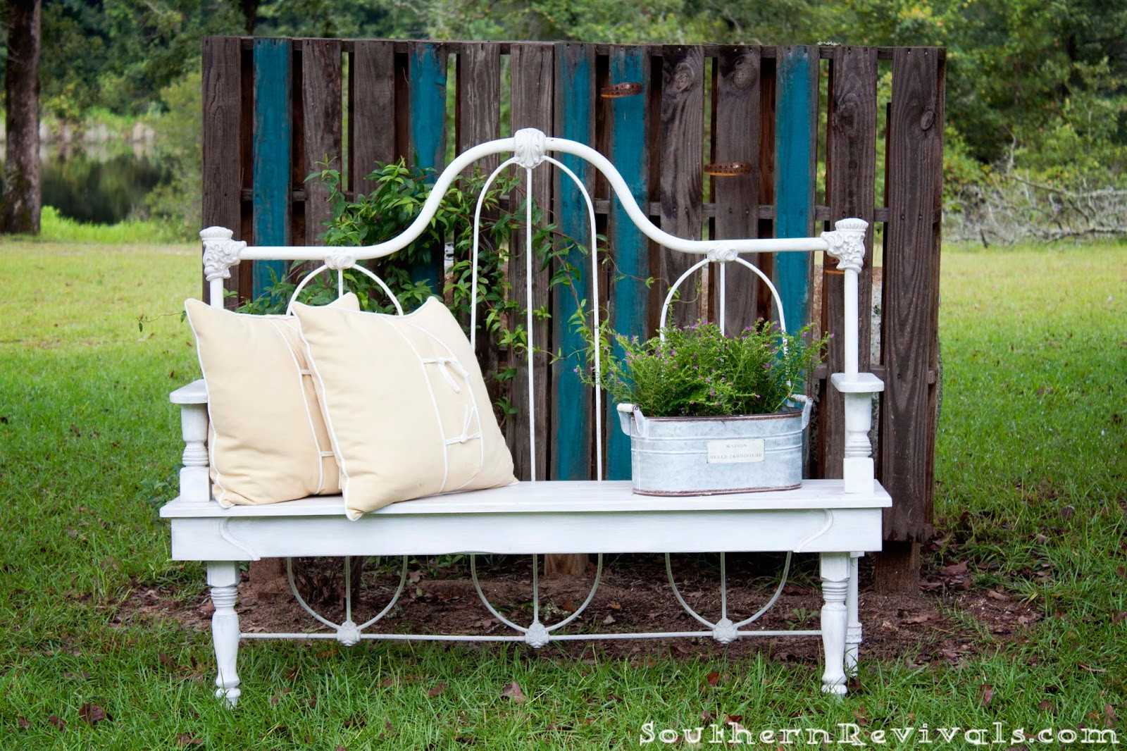 Best ideas about DIY Bed Bench . Save or Pin DIY Repurposed Metal Headboard Bench Southern Revivals Now.
