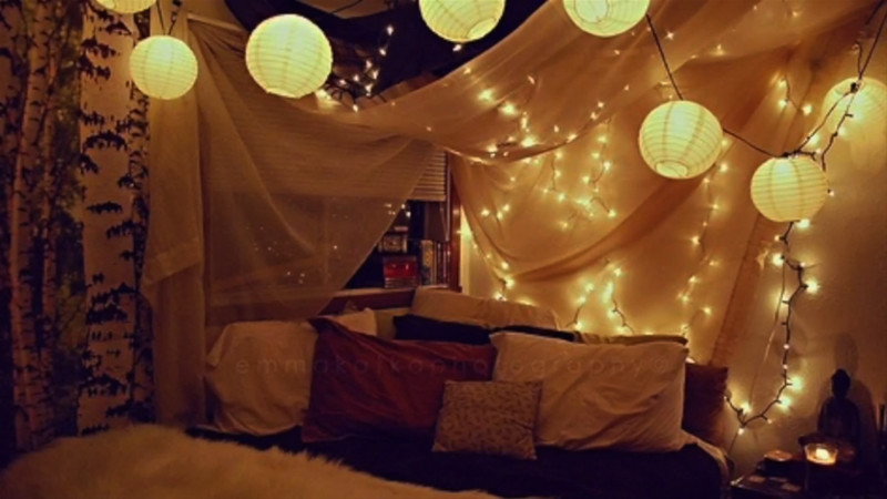 Best ideas about DIY Bed Canopy With Lights . Save or Pin Lighted Wall or Bed Canopy for DIY Decor Now.