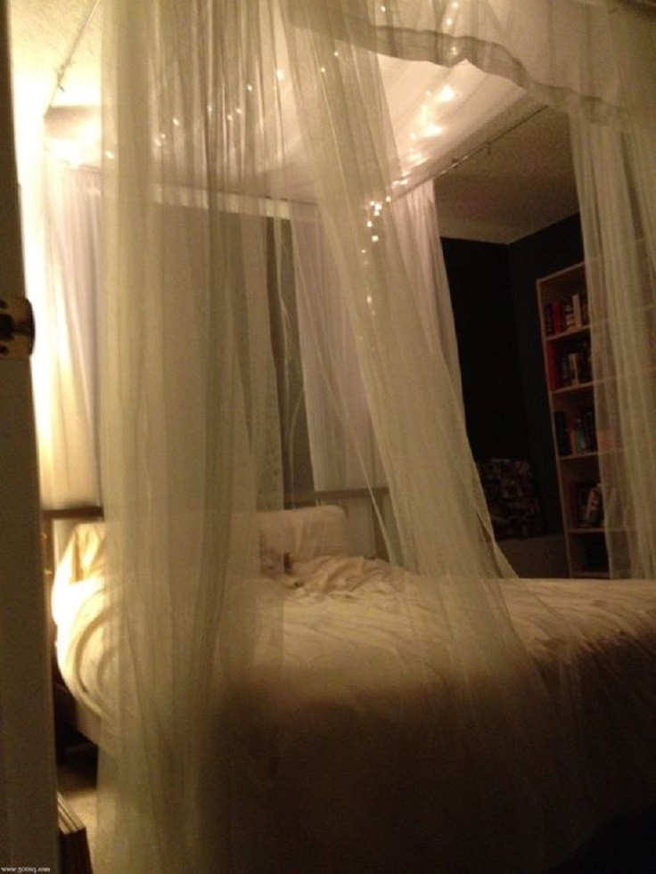 Best ideas about DIY Bed Canopy With Lights . Save or Pin Top 10 Romantic Bedroom Ideas for Anniversary Celebration Now.