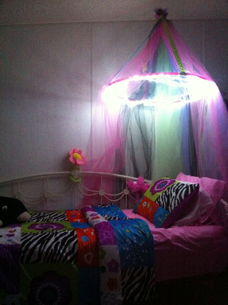 Best ideas about DIY Bed Canopy With Lights . Save or Pin DIY Kids Bed Canopy With Lights Millie Pinterest Now.
