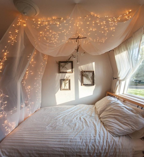 Best ideas about DIY Bed Canopy With Lights . Save or Pin Current Favorite DIY Home Decorations Now.