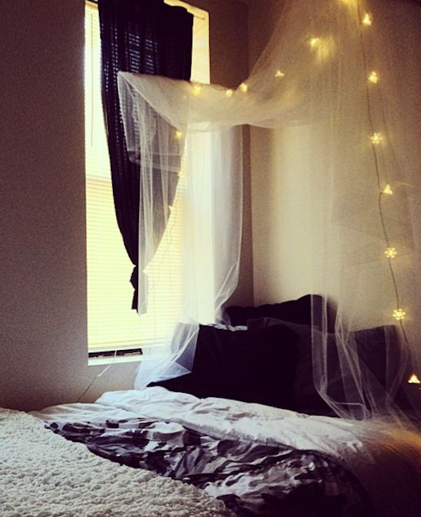 Best ideas about DIY Bed Canopy With Lights . Save or Pin Diy Canopy Bed Dorm WoodWorking Projects & Plans Now.