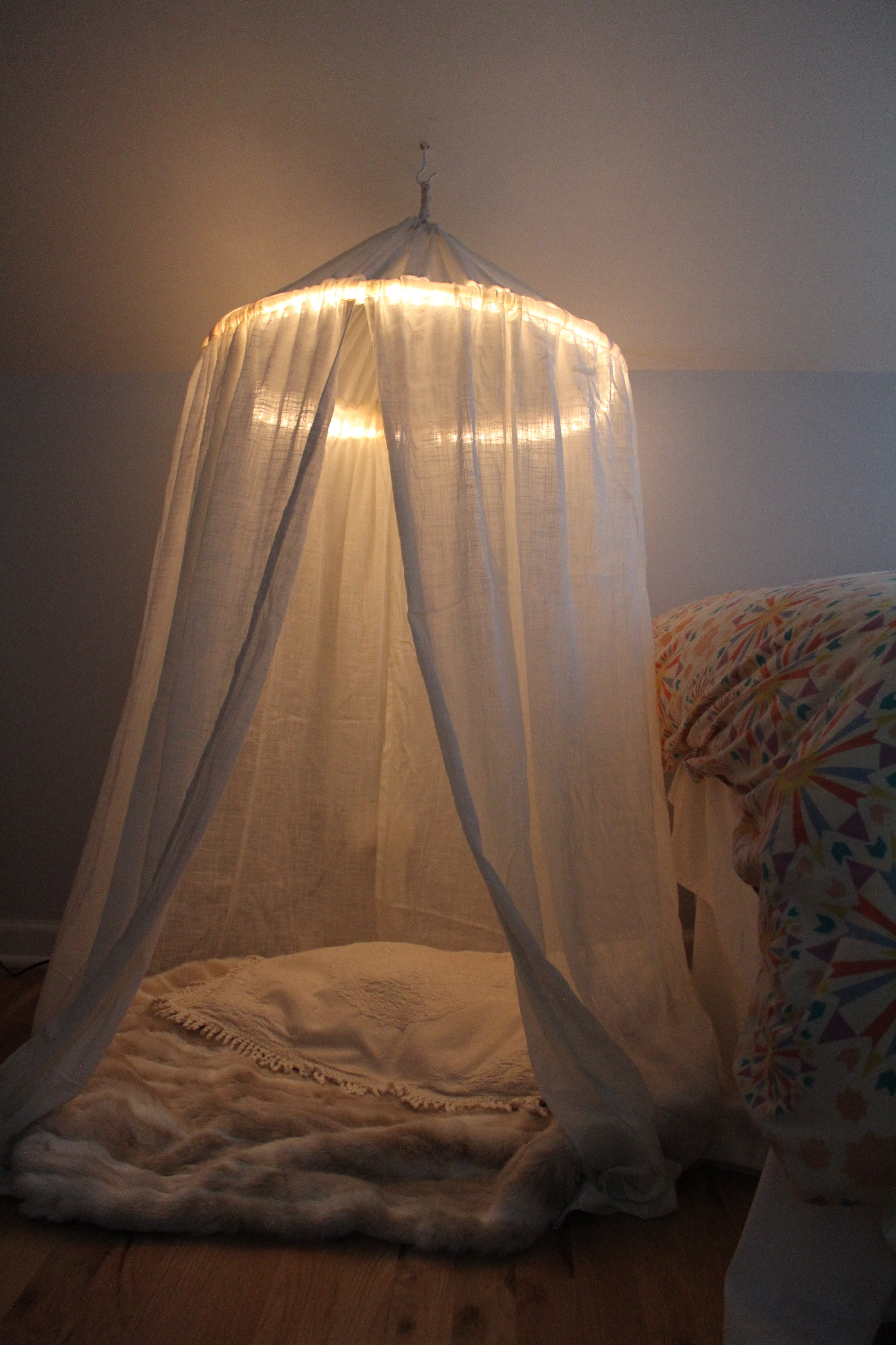 Best ideas about DIY Bed Canopy With Lights . Save or Pin diy canopy handmaidtales Now.
