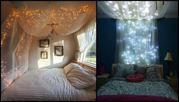 Best ideas about DIY Bed Canopy With Lights . Save or Pin Make a magical bed canopy with lights Now.