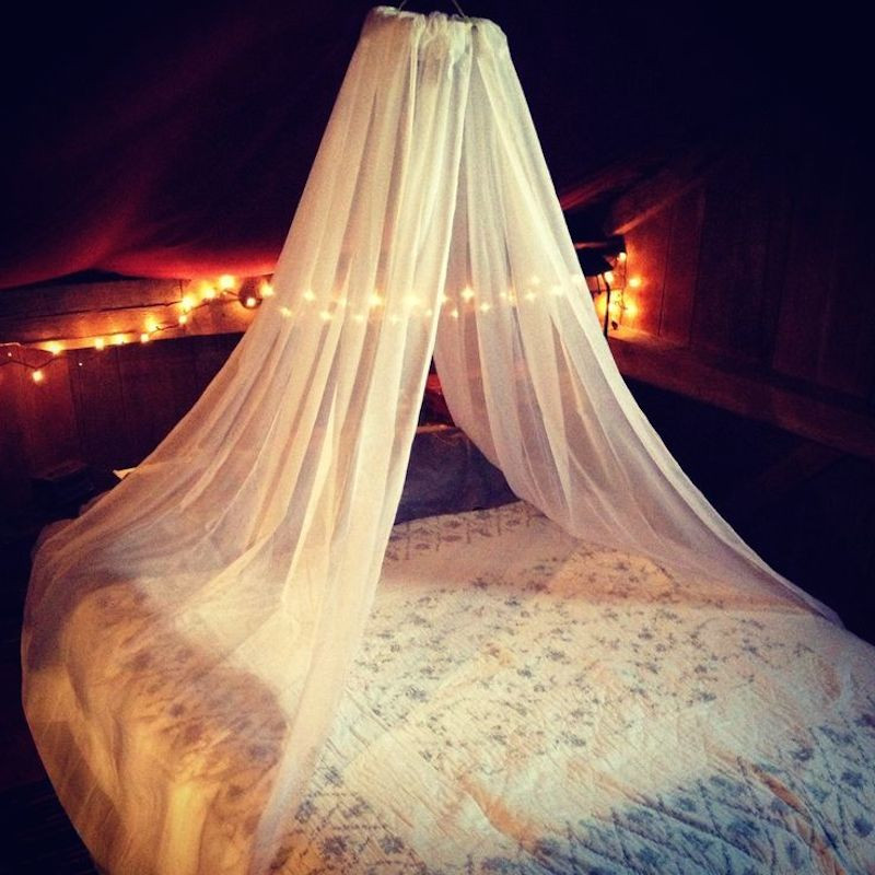 Best ideas about DIY Bed Canopy With Lights . Save or Pin 10 Best DIY Canopy Beds Room & Bath Now.