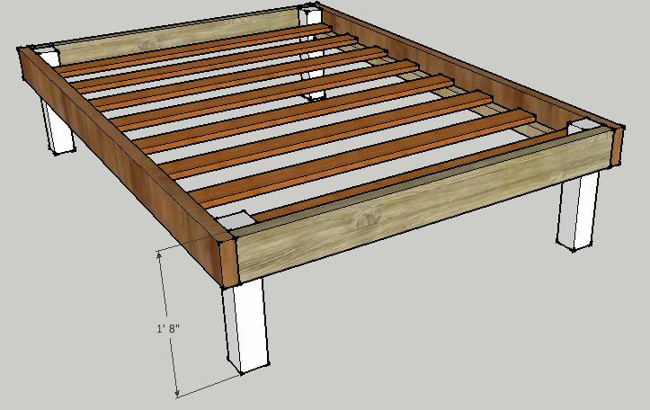 Best ideas about DIY Bed Frame Plans . Save or Pin Queen Bed Frame Plans Now.