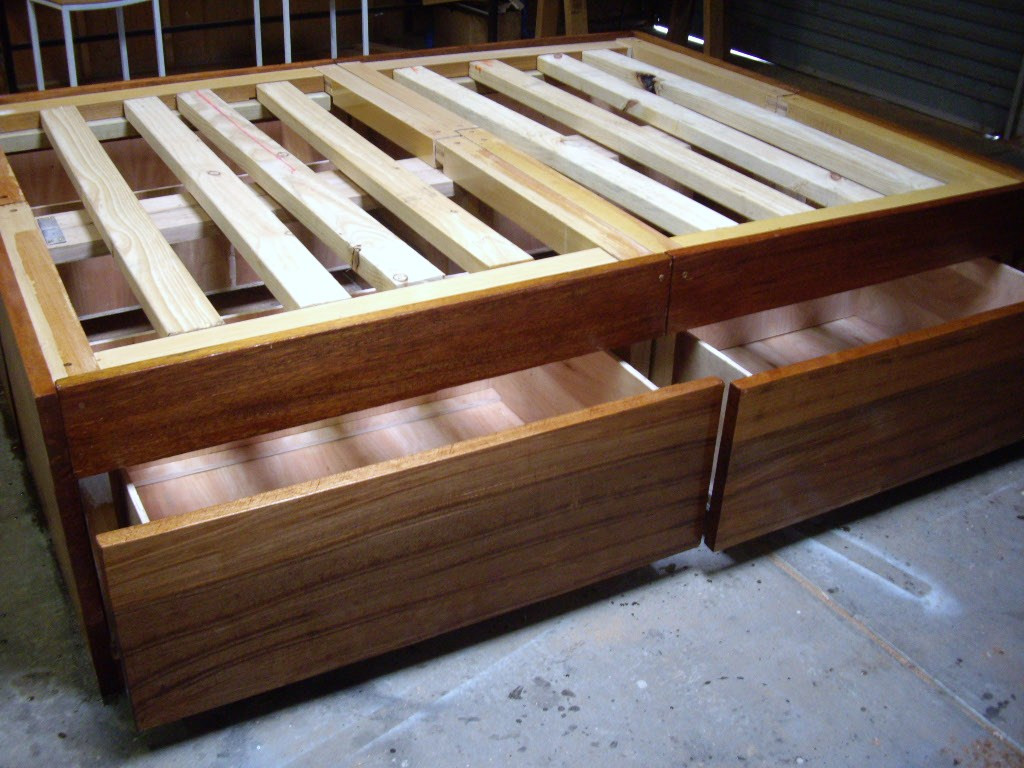 Best ideas about DIY Bed Frame Plans . Save or Pin D I Y Now.