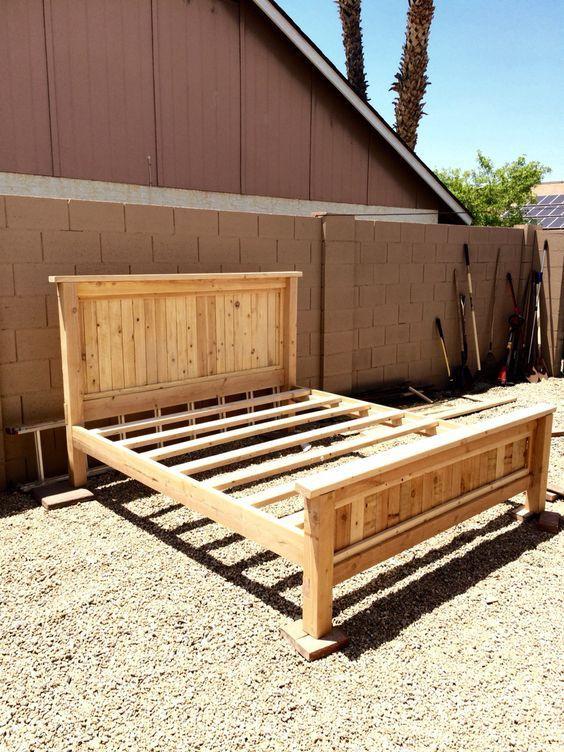 Best ideas about DIY Bed Frame Plans . Save or Pin $80 DIY king size platform bed frame DIY Now.