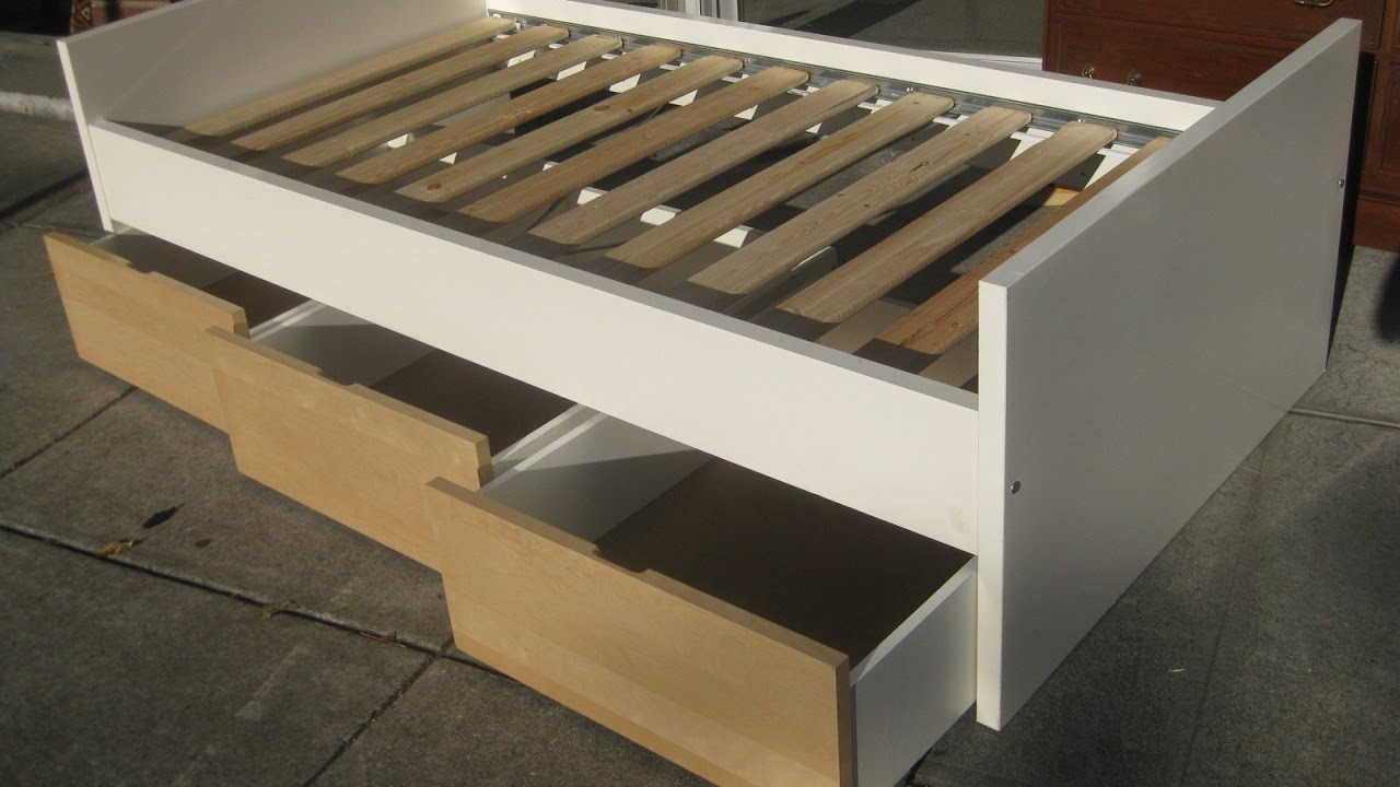 Best ideas about DIY Bed Frame Plans . Save or Pin Diy Platform Bed Frame with Storage Now.