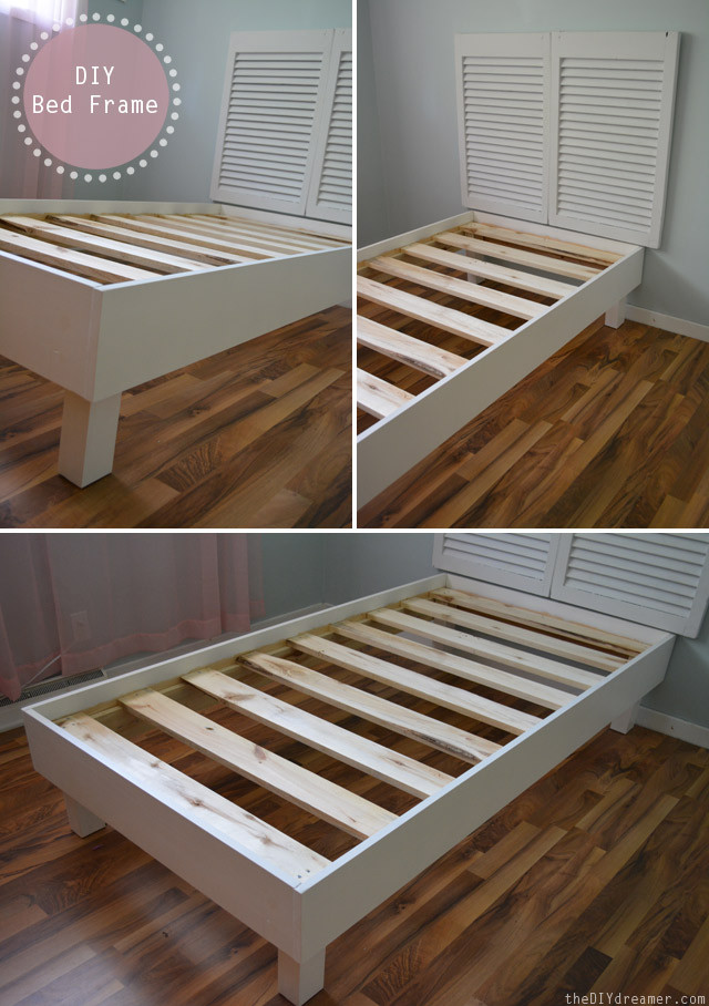 Best ideas about DIY Bed Frame Plans . Save or Pin Shutter Headboard Tutorial The D I Y Dreamer Now.