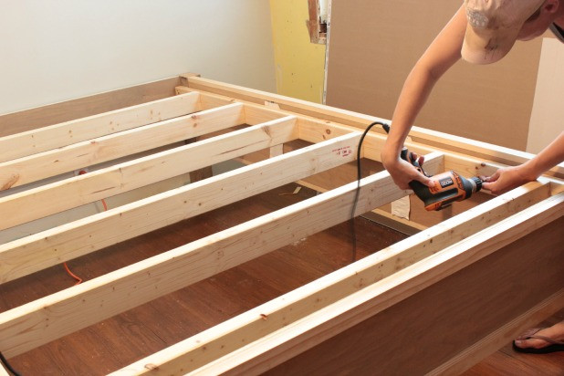 Best ideas about DIY Bed Frame Plans . Save or Pin how to make a wood bed frame Now.