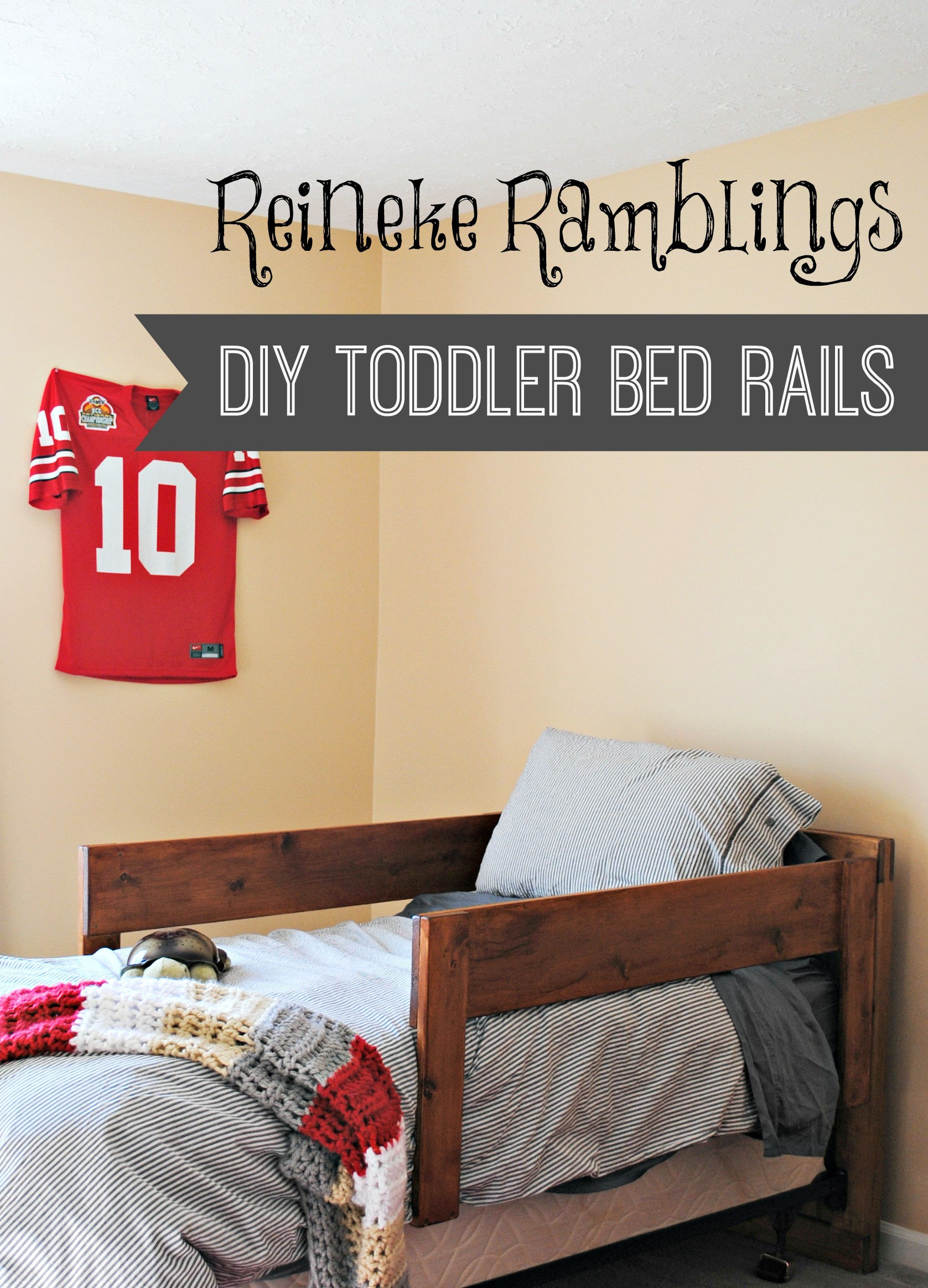 Best ideas about DIY Bed Rails For Toddlers . Save or Pin DIY Toddler Bed Rails Cypress and Wool Now.