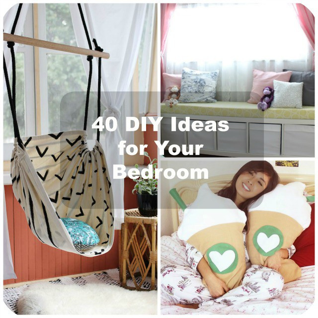 Best ideas about Diy Bedroom Decor . Save or Pin 40 DIY Bedroom Decorating Ideas Now.