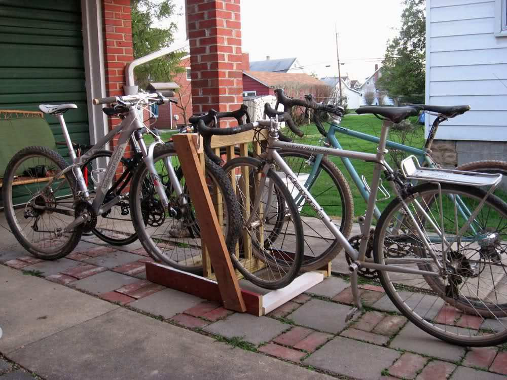 Best ideas about DIY Bicycle Rack . Save or Pin DIY bike rack Now.