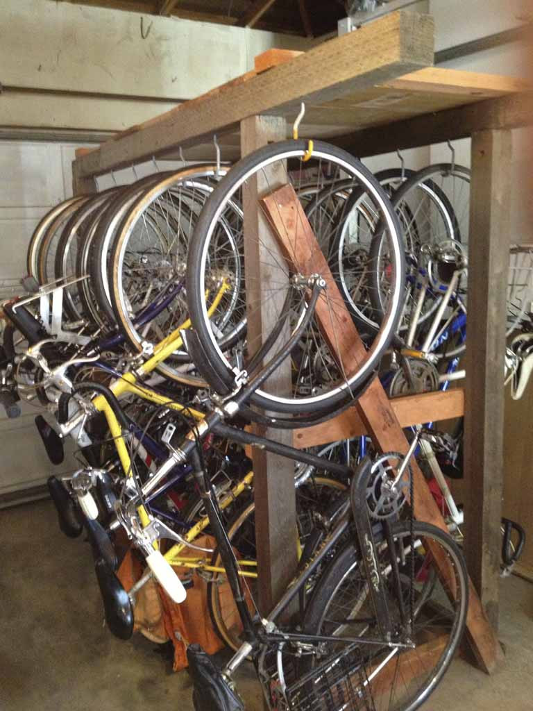 Best ideas about DIY Bicycle Rack . Save or Pin tools DIY wooden bike rack looking for plans Now.